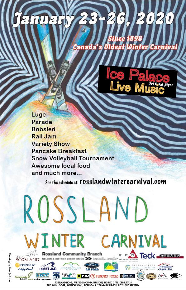 Rossland Winter Carnival Poster Winner 2020